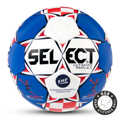Replica of the Official Match Ball for the Men's EHF European Handball Championship 2018 in Croatia.