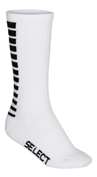 Sports Socks Striped Long - White