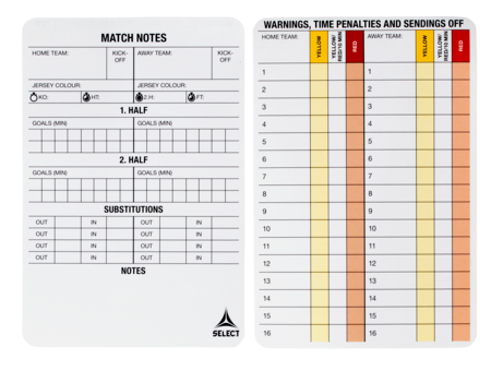 Referee game cards