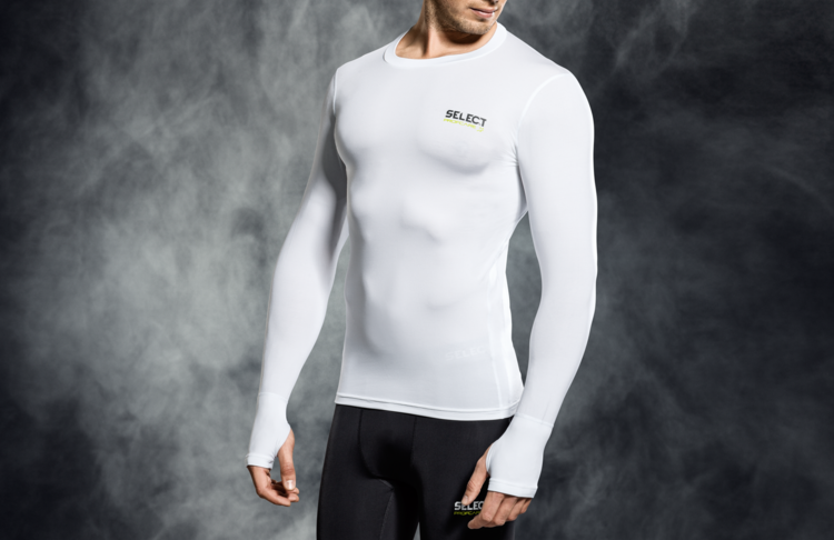6902 T-SHIRT DE COMPRESSION MANCHES LONGUES - blanc